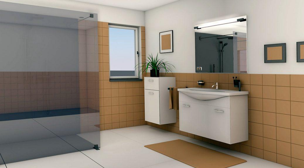 łazienka z podajnikami