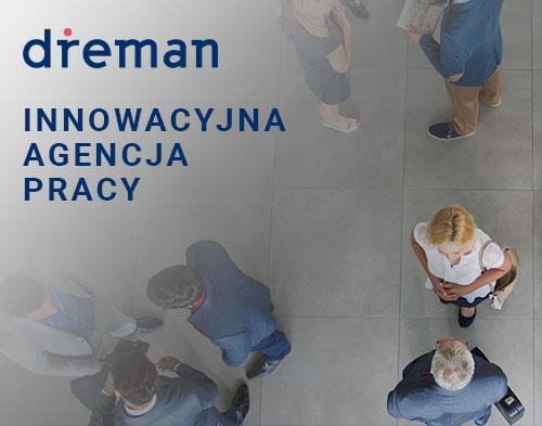 Agencja pracy Dreman - baner reklamowy